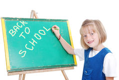 Children activities in the front of small boardi Stock Photography