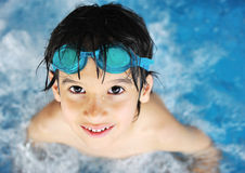 Children activities in pool Royalty Free Stock Image