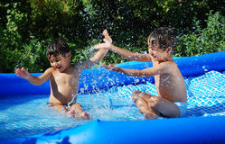 Children activities on swiming pool Royalty Free Stock Photography