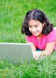 Children activity with laptop Stock Photography