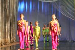 Children actors on stage Stock Photo
