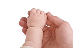 Children and adult hand Royalty Free Stock Images