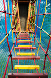Children adventure rope bridge Stock Images