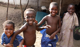 Children in Africa. Children in a village in Malawi, Africa Royalty Free Stock Photos