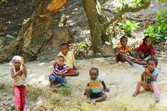 Children in Africa, Madagascar Royalty Free Stock Image