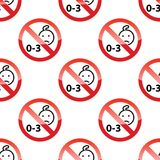 Children age restriction pattern Royalty Free Stock Images
