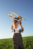 Children with airplan toy Stock Images