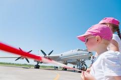 Children at airshow Stock Photos