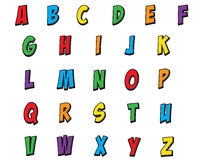 Colorful Children Comic Style Alphabet Stock Image