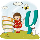 Children alphabet letters Y. Funny children alphabet letters  Y Royalty Free Stock Photo