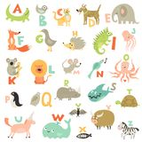 Children Alphabet Set. Complete children abc alphabet for babies toddlers preschoolers with funny animals pictures for each letter vector illustration Vector Illustration