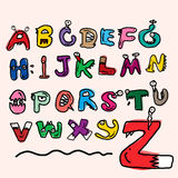 Children alphabet spelled out. Monster education Stock Photos