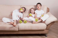 Children And Apples Royalty Free Stock Images