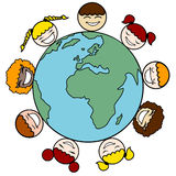 Children And Earth Royalty Free Stock Photo
