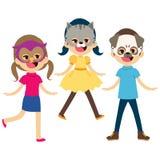 Children Animal Masks Royalty Free Stock Images