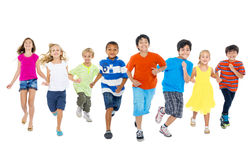 Children Are Running Together Stock Image