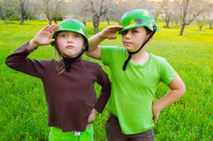 Children army Stock Image