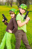 Children army royalty free stock photo