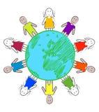 Children around the earth Stock Photos