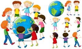 Children around the earth Stock Image