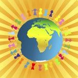 Children around the globe Stock Photography