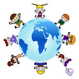 Children around the globe  Royalty Free Stock Photos