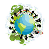 Children around the globe Stock Photo