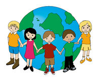 Children around the Globe royalty free stock photography