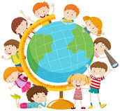 Children around the globe Royalty Free Stock Photos