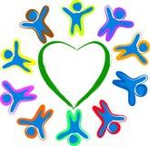 Children around the heart