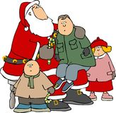 Children around Santa Stock Photo