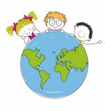Children around the world Vector Illustration
