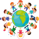 Children_around_the_world Immagine Stock Libera da Diritti