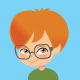 Little boy with eyeglasses Royalty Free Stock Images