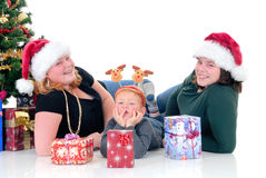Children around Xmas three Royalty Free Stock Photo