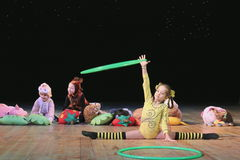 Children artists of circus Royalty Free Stock Image