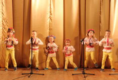 Children artists singers stock images