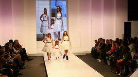 Children as Fashion models stock video footage