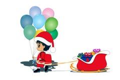 Children as Santa Claus. Royalty Free Stock Image
