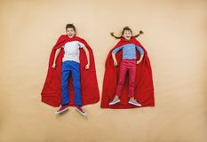 Children as superheroes Royalty Free Stock Images