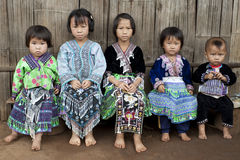 Children of Asia, ethnic group Meo, Hmong Stock Photo