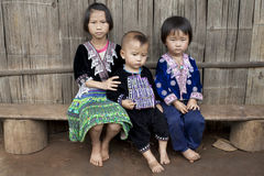 Children of Asia, ethnic group Meo, Hmong. In the north of Thailand stock photography