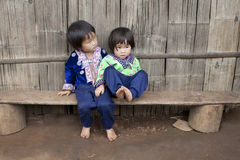Children of Asia, ethnic group Meo, Hmong royalty free stock photos