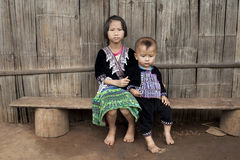 Children of Asia, ethnic group Meo, Hmong royalty free stock photography