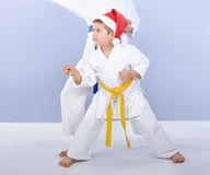 Children athletes beat punch arm Stock Images