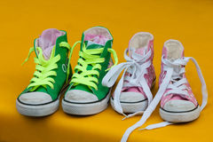 Children athletic casual shoes Stock Photography