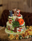 Children Autumn Cake Royalty Free Stock Photos
