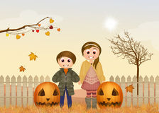 Children in autumn Royalty Free Stock Images