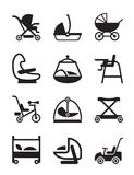 Children and baby accessories Royalty Free Stock Images