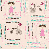 Children background. Stylized funny seamless pattern for kids vector illustration